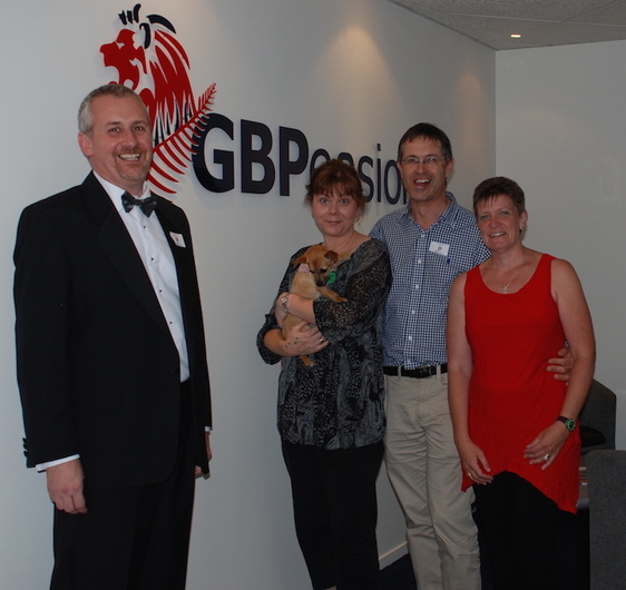 Friends and colleagues have a wheely great time at GBPensions' office warming!